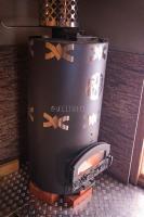 Банная печь периодического действия с прямым нагревом камней