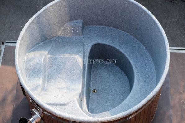 Купель с пластиковой вставкой  2000 мм. (с шезлонгом)
